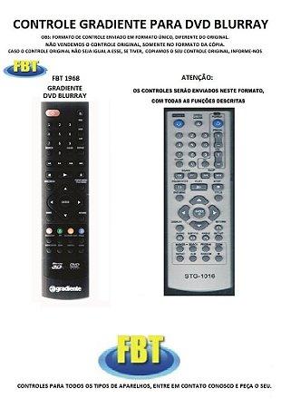 Controle Remoto Compatível para DVD BLURRAY Gradiente