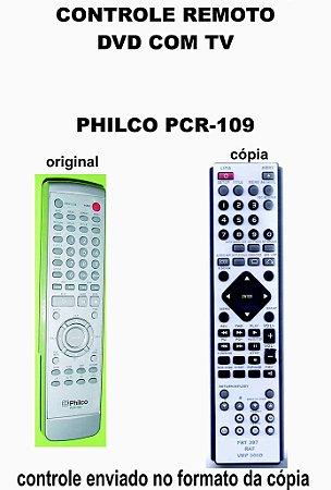 Controle Remoto Compatível para DVD C/ TV PHILCO PCR-109