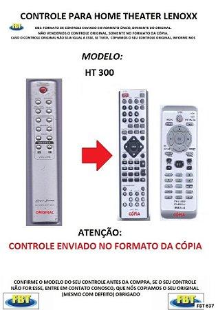 Controle Remoto Compatível - para Home THEATER Lenoxx Sound HT-300