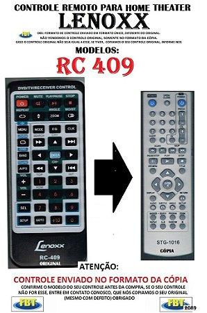 Controle Remoto Compatível - Home THEATER Lenoxx RC 409