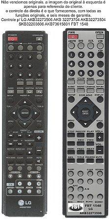 CONTROLE LG AKB36087607 SH22SF-S SH22SF-W SH52SH-S SH52SH-C HT202 SF202SF-A5 HT 303 SU HT304 HT305 HT306SU HT502SH HT502SHM HT532 HT805ST LH-W9656IA