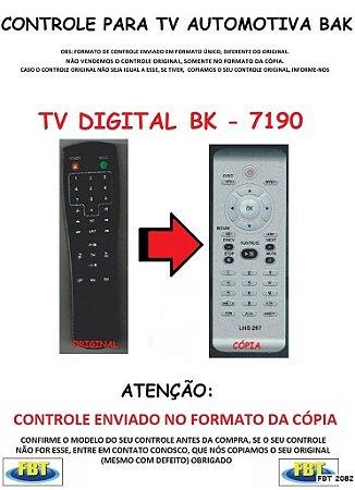 Controle Remoto Compatível - TV Digital Automotivo BAK BK-7190