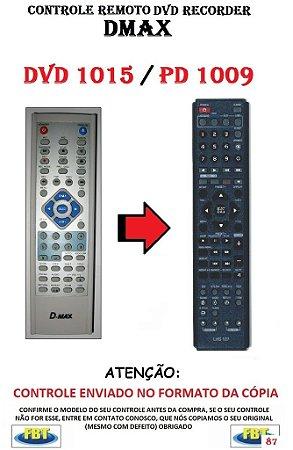 Controle Remoto Compatível para DVD RECORDER DMAX DVD1015 PD1009