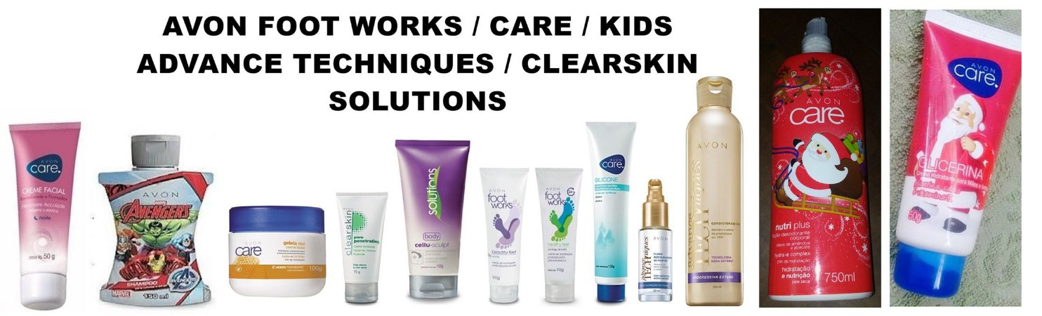 AVON FOOT WORKS / CARE / KIDS / ADVANCE TECHNIQUES / CLEARSKIN / SOLUTIONS
