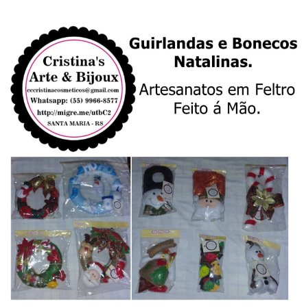 Cristina's Arte & Bijoux - Artesanato Natalina