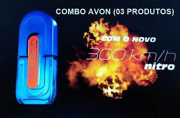 COMBO AVON 300KM/h NITRO (3 PRODUTOS)