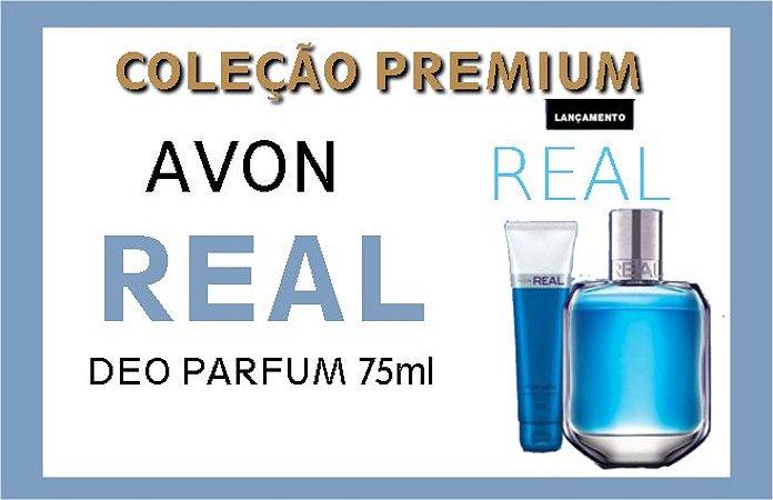 AVON PREMIUM REAL DEO PARFUM 75ml + SHAMPOO CABELO & CORPO 90ml [CAIXA AVON VIP GRÁTIS]