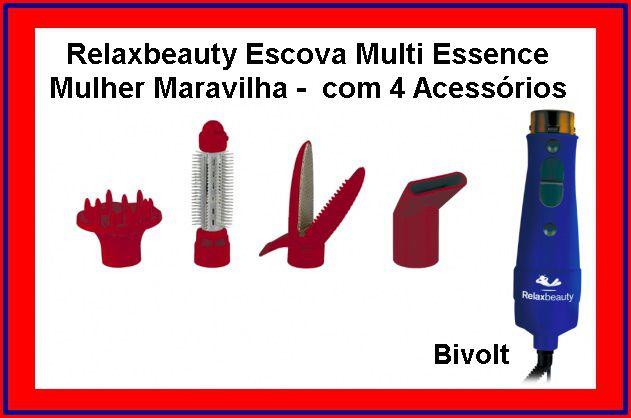 Relaxbeauty Escova Multi Essence Mulher Maravilha - com 4 peças