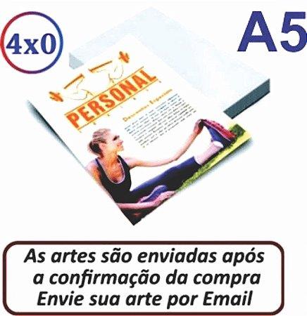 FOLHETOS | 14X20 A5 | FRENTE 4X0  | (CLIQUE NA OPÇÃO DESEJADA)