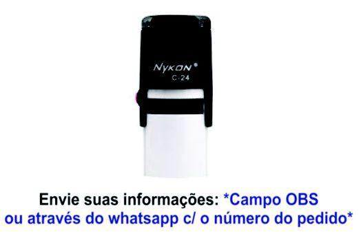 C24 - 24MM REDONDO - CARIMBO AUTOMÁTICO NYKON - APENAS BALCÃO AV. SABARÁ | 24h