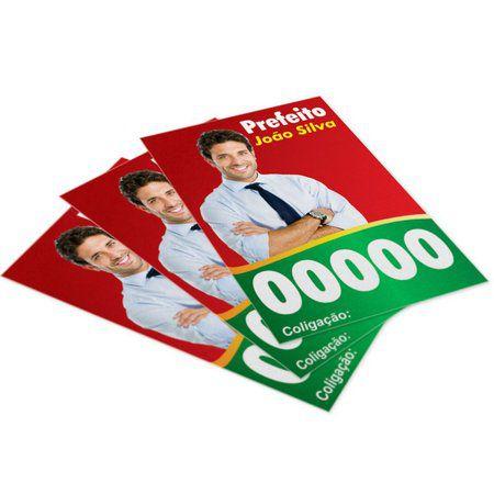 SANTINHOS POLÍTICOS   10X7   COLORIDO   4X0 CORES  (SÓ FRENTE)   1.000 UNIDADES