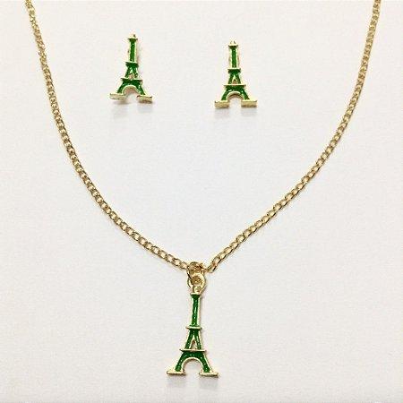 Conjunto infantil Torre Eiffel verde