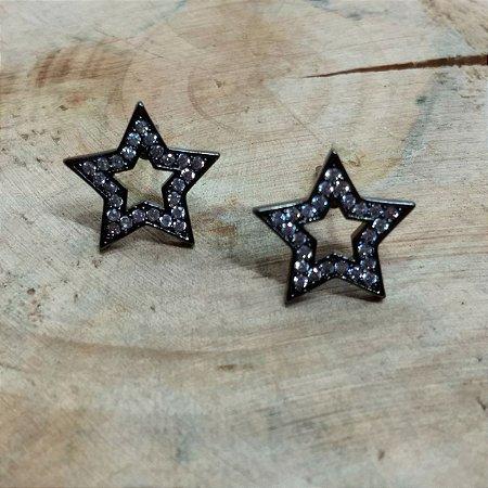 Brinco Estrela Zircônia Cristal