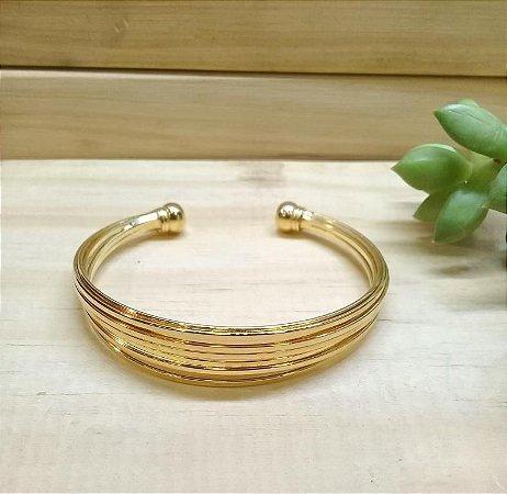Bracelete Fios Dourado