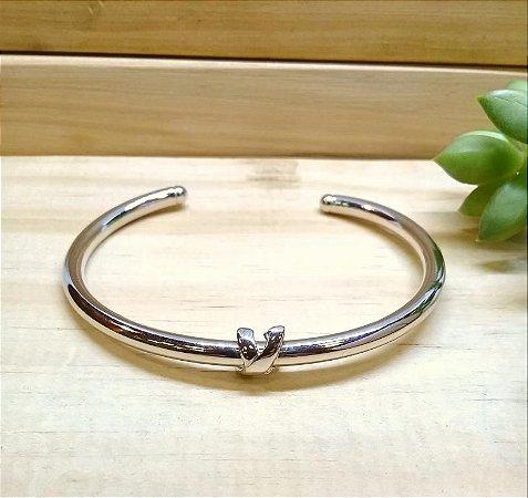 Bracelete X Ródio Branco