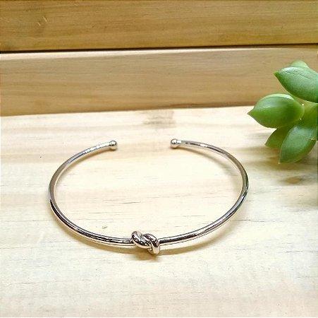 Bracelete Nó Ródio Branco