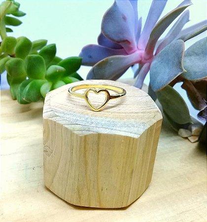 Anel Coração Pequeno Dourado