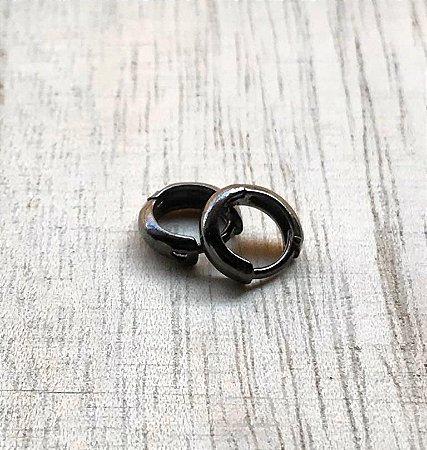 Brinco Argola Pequena Ródio Negro