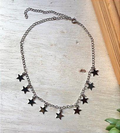 Chocker Estrela Ródio Branco