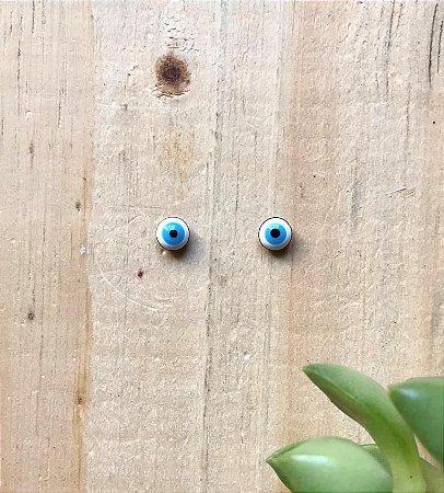 Brinco Mini Olho Grego Ródio Negro