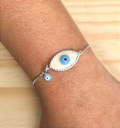 Pulseira Olho Grego Prata 925