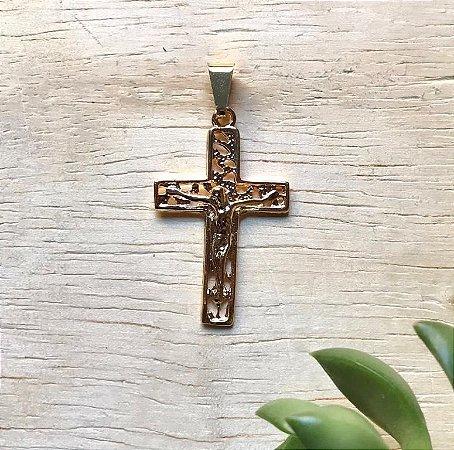 Pingente Cruz Dourado