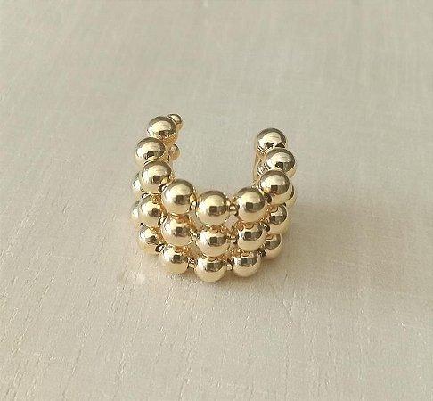 Piercing Fake Bolinhas Dourado