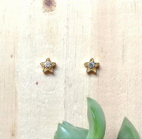 Brinco Mini Estrela Dourado