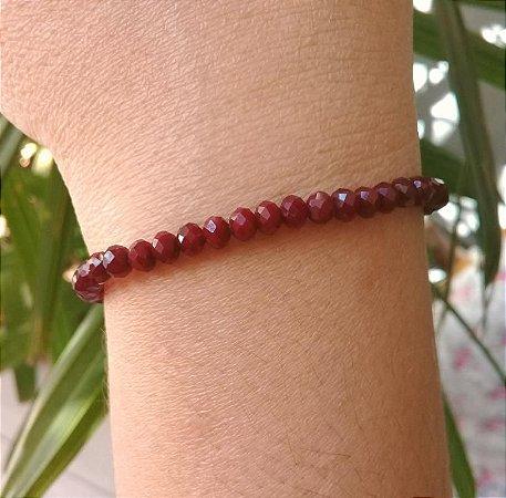 Pulseira Pedra Natural Jaspe Vermelho