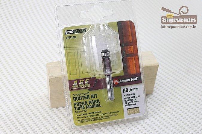Fresa AGE™ Pro-Series Amana Tool - Reta/Paralela com Rolamento Inferior 9,5 x 15mm [FR140]