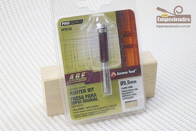 Fresa AGE™ Pro-Series Amana Tool - Reta/Paralela com Rolamento Inferior 9,5mm x 25mm [FR142]