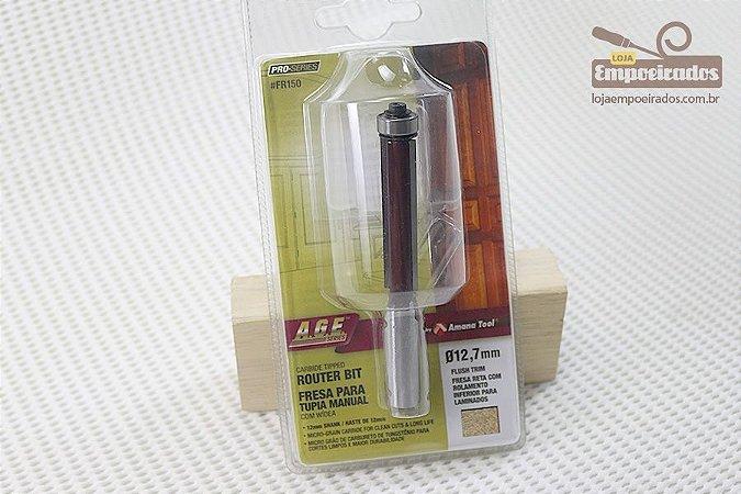 Fresa AGE™ Pro-Series Amana Tool - Reta/Paralela com Rolamento Inferior 12,7mm x 51mm [FR150]
