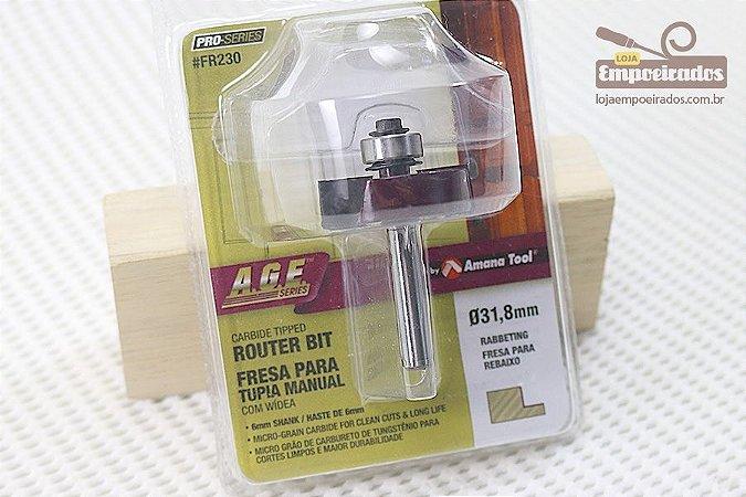 Fresa AGE™ Pro-Series Amana Tool - Rebaixo com Rolamento - 31,8mm [FR230]