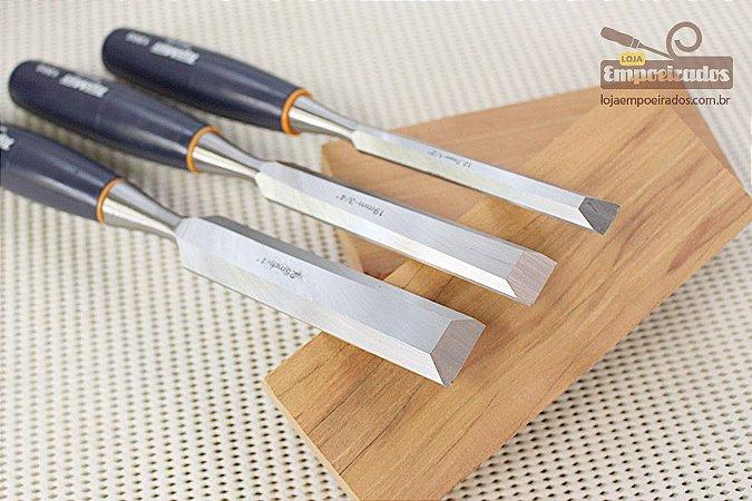 Kit de Formões Japonês TopMan PRO com 3 peças - 12, 19 e 25mm