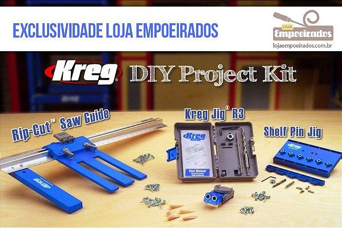 Kit DIY KREG 3 acessórios: R3 + RIPCUT + GABARITO PIN JIG