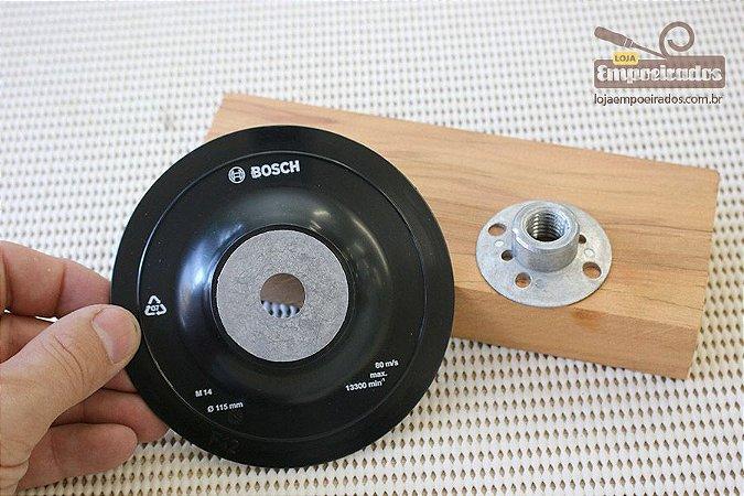 Kit Disco Borracha Suporte de Lixa 115mm M14 - Bosch