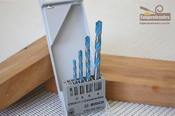 Kit de 4 Brocas Multiconstruction - Bosch [4, 5, 6 e 8mm]