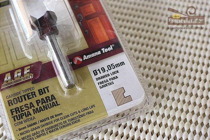 Fresa AGE™ Pro-Series Amana Tool - Para Montagens de Gavetas 19,05mm/6mm [FR388]