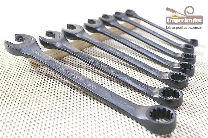 Jogo de Chaves de Combinadas de Boca Speedy X6 Black Edition com 7 peças - Belzer