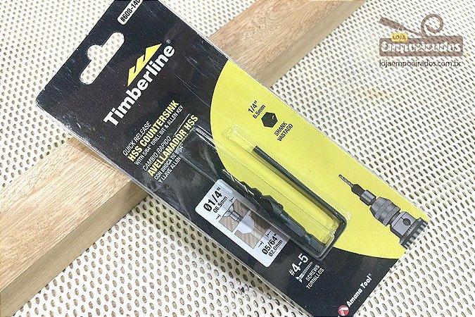 Broca Escareadora Amana Tool N4 Marcenaria (6mm x 2mm) #140