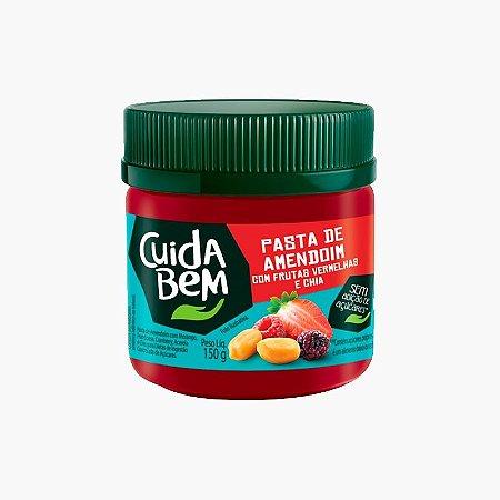 Pasta de Amendoim Com Frutas Vermelhas e Chia (150g) - Cuida Bem (Venc Dez)