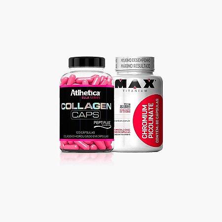 Collagen Ella (120 caps) + Chromium (60 caps) - Atlhetica Nutrition