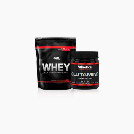 On Whey (837g) + Glutamina micronized (150g) - Optimum Nutrition