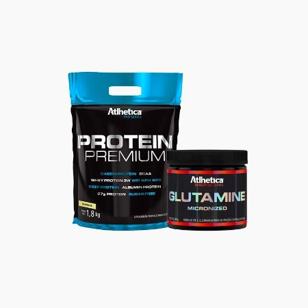Protein Premium (1,8kg) + Glutamina micronized (300g) - Atlhetica Nutrition