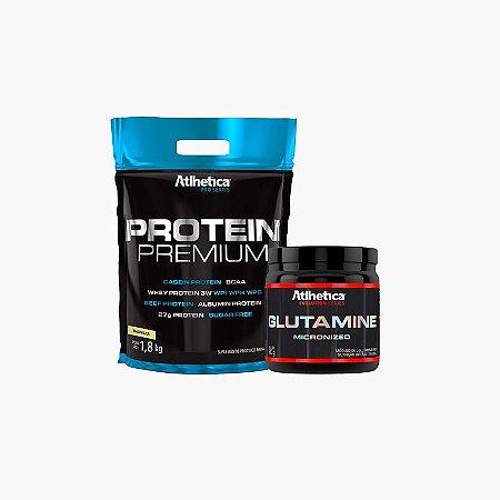 Protein Premium (1,8kg) + Glutamina micronized (500g) - Atlhetica Nutrition