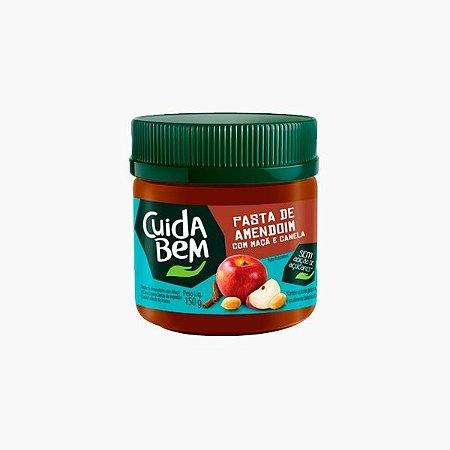 Pasta de Amendoim Com Maçã e Canela (150g) - Cuida Bem (Venc Dez)