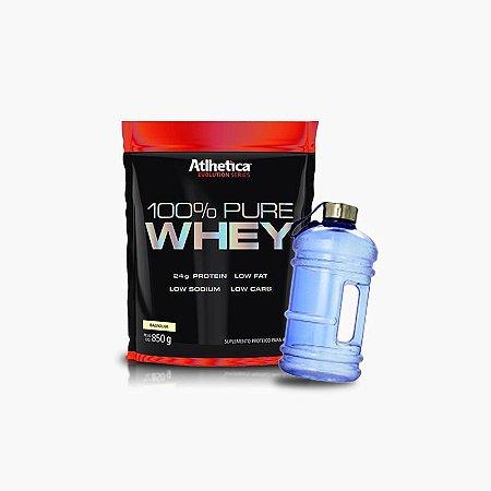 100% Pure Whey Refil (850g) + GALÃO IMPORTADO GRÁTIS - Atlhetica Nutrition