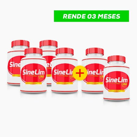 SineLim 360 Emagrecedor - (60caps) - Compre 4 LEVE 6