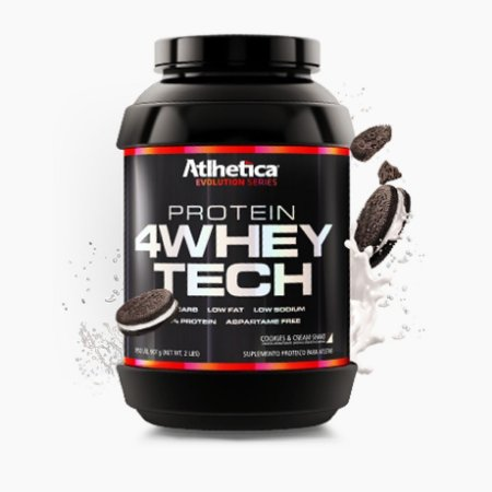 4 Whey Tech (907g) - Atlhetica Nutrition Venc (04/19)