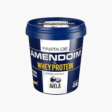 Pasta de Amendoim e Whey Protein c/ Avelã (450g) - Mandubim  (VENC.: 11/17)